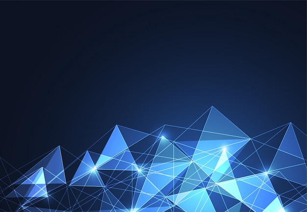 Abstract polygonal space background Premium Vector