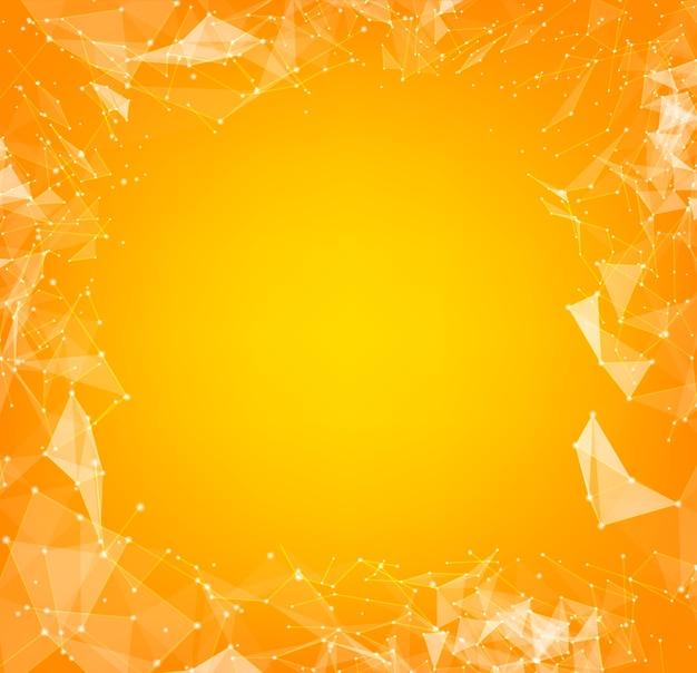 線と三角形の背景を持つ抽象的なポリゴン 無料ベクター