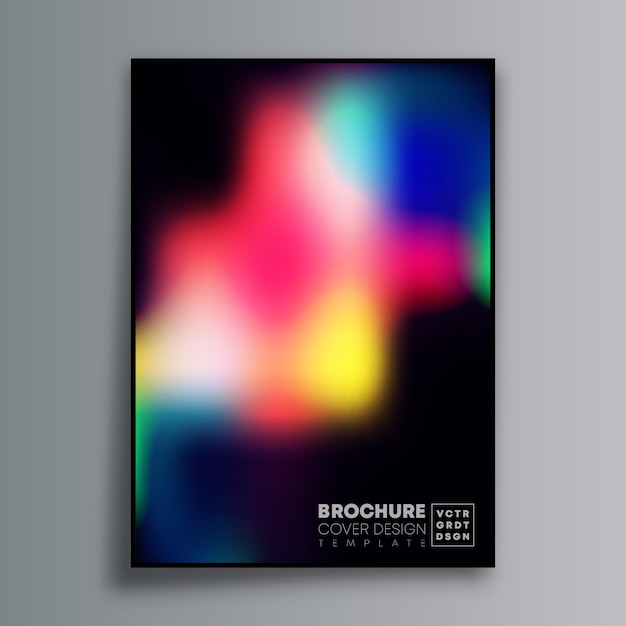 Abstract poster design with colorful gradient for wallpaper, flyer, poster, brochure cover, typography Premium Vector