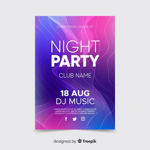 Abstract poster with gradient background Free Vector