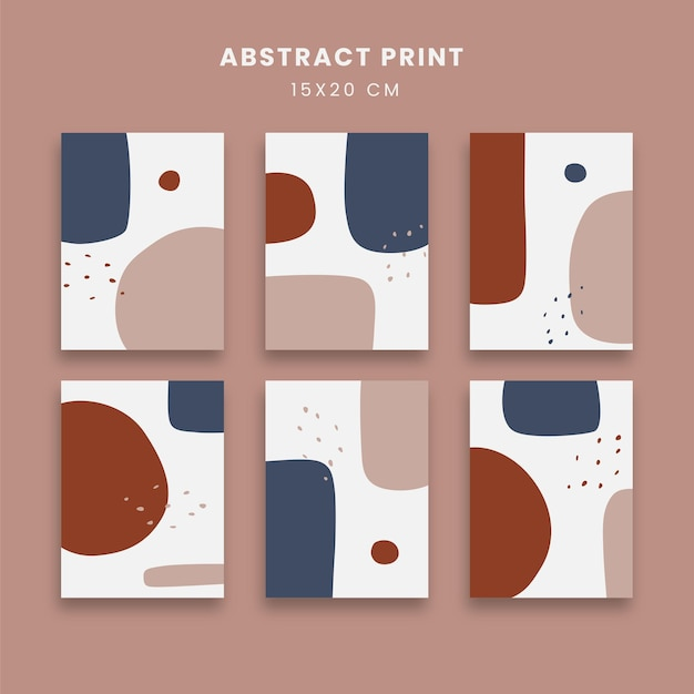 Abstract posters art set with geometric shapes Premium Vector