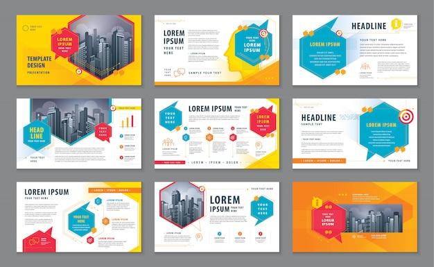 Abstract presentation templates, infographic template design, speech bubbles vector Premium Vector
