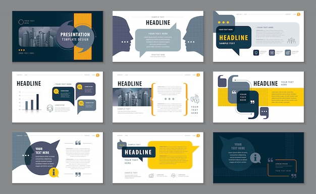 Abstract presentation templates Premium Vector