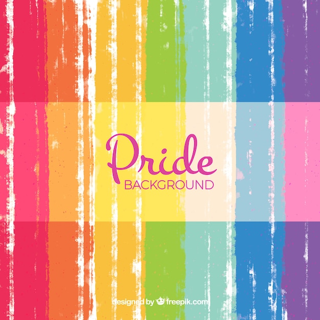 Abstract pride day background Free Vector