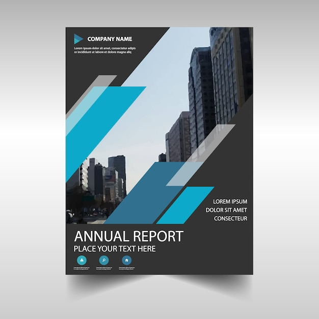 Abstract Professional Annual Report Template Vector  Free Download