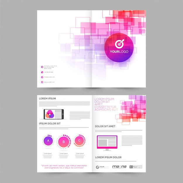 Abstract professional brochure, business template layout ...