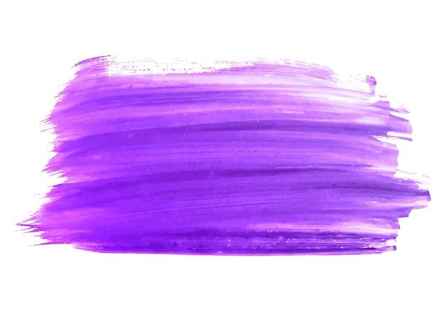 Disegno di colore del tratto di pennello viola astratto Vettore gratuito
