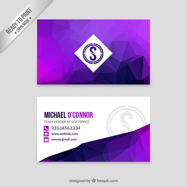 Abstract purple business card vector free download abstract purple business card free vector colourmoves Image collections