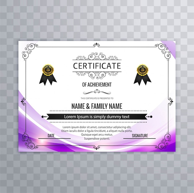 Abstract purple certificate design Vector | Free Download