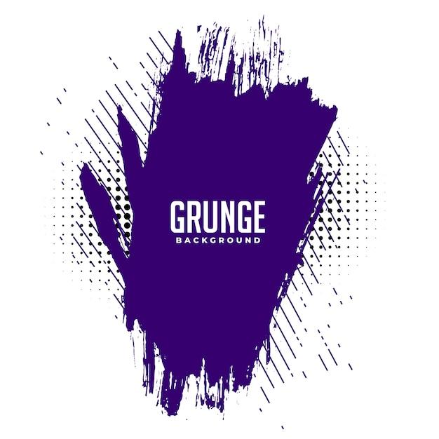 Абстрактные фиолетовые чернила брызги гранж текстуры фона дизайн Бесплатные векторы