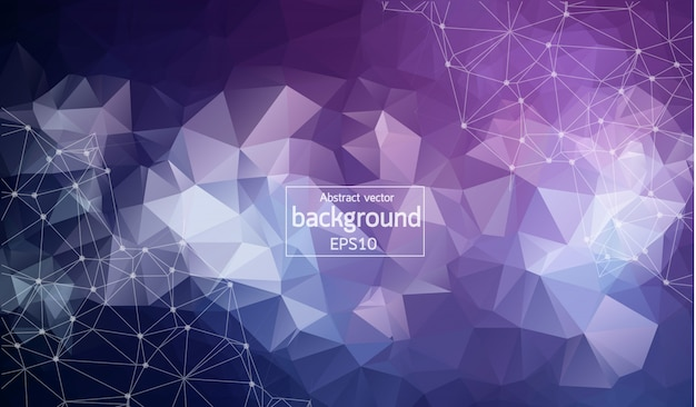 Abstract Purple Polygonal Space Background Vector Premium
