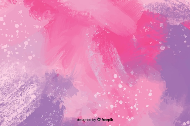 Abstract purple wallpaper hand painted Free Vector
