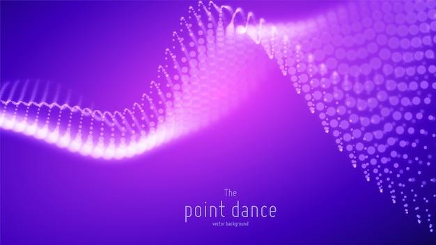 Абстрактная фиолетовая футуристическая волна. цифровой фон технологии Бесплатные векторы