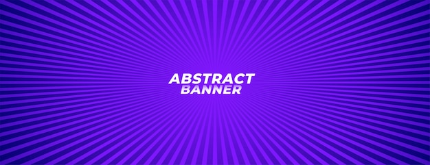 Abstract purple zoom line rays background banner design Free Vector