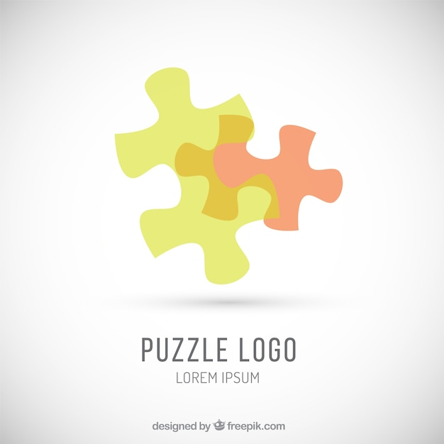 Abstract puzzle logo Free Vector