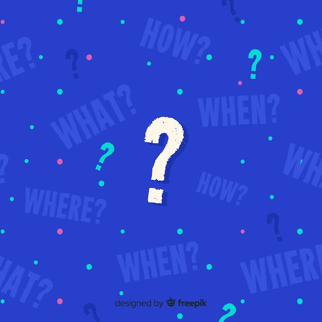 Abstract question background Free Vector