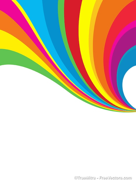 Abstract Rainbow Background Illustrator Vector Vector