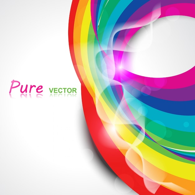 abstract rainbow color background free vector - Rainbow Color