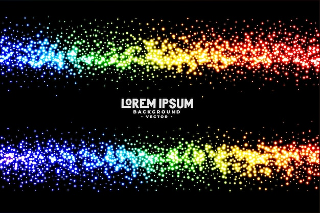 Abstract rainbow color glitter background Free Vector