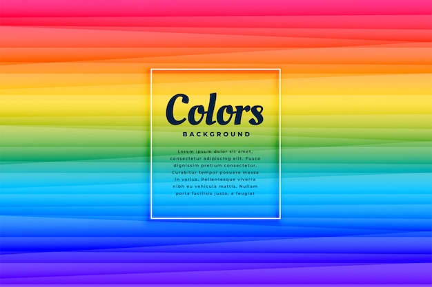 Abstract rainbow color vibrant lines background design Free Vector