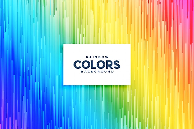 Abstract rainbow colors vertical lines background Free Vector