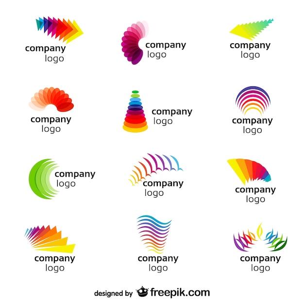 Abstract rainbow logos Free Vector