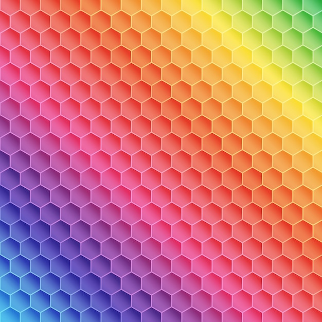 Free Vector Abstract Rainbow Themed Pattern Design