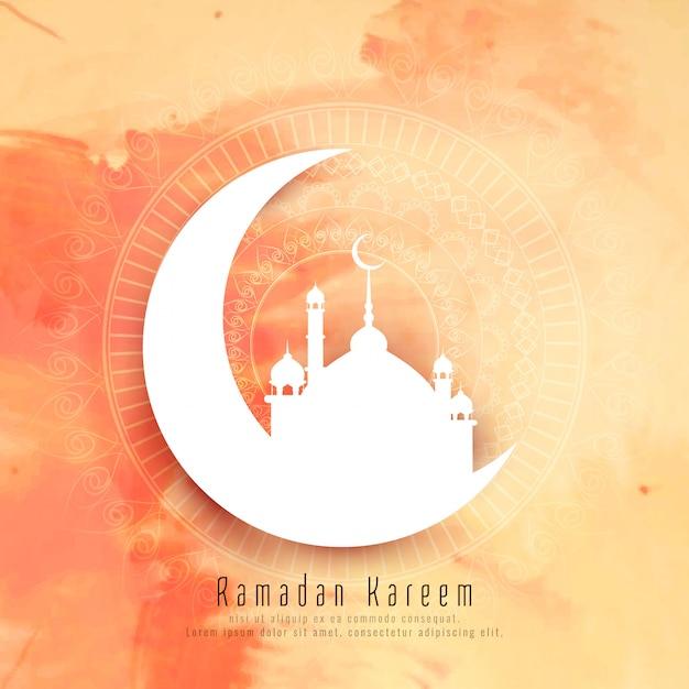 Abstract ramadan kareem elegant background Free Vector