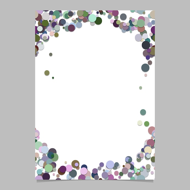 Abstract random dot page template Premium Vector