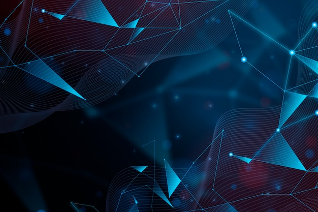 Abstract realistic technology particle background design Free Vector