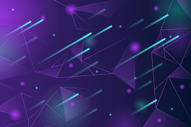 Abstract realistic technology particle background Free Vector
