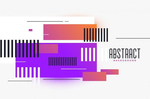 Abstract rectangles shapes vibrant background Free Vector