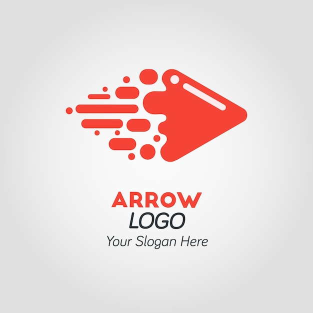 abstract red arrow logo template vector premium download