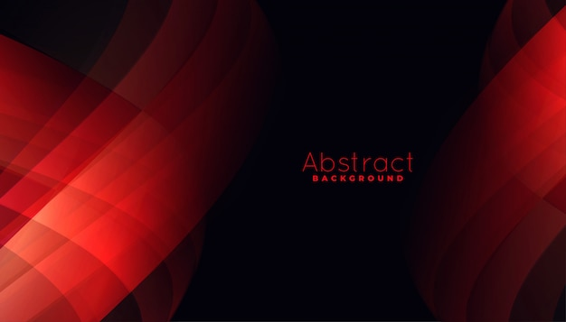 Abstract red background with curvy line shapes Free Vector