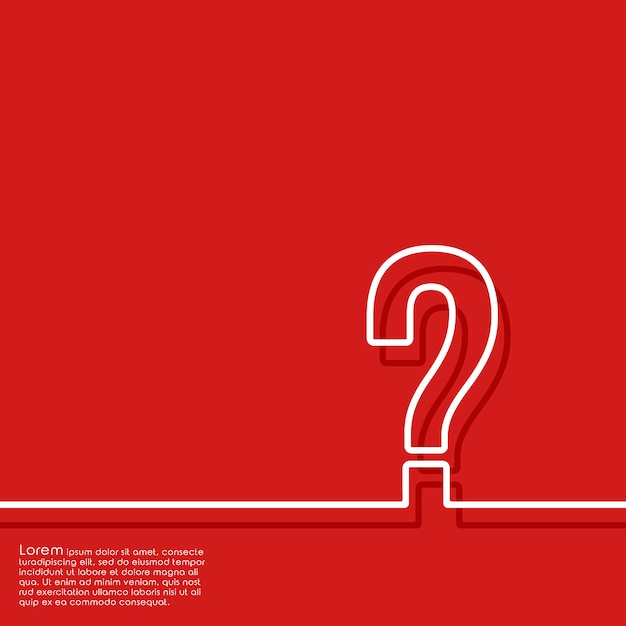 Abstract red background with question mark Premium Vector