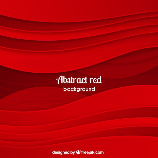 Abstract red background with waves
