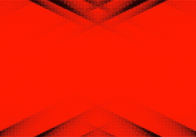 Abstract red and black dotted background Free Vector