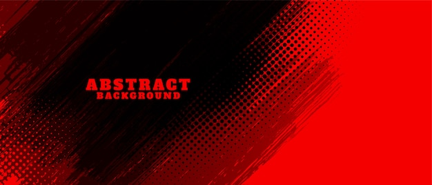 Free Vector   Abstract Red And Black Grunge Background Design