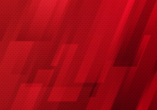 Abstract red geometric diagonal with dots pattern background Premium Vector
