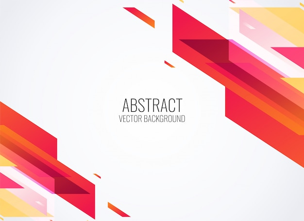 Abstract red geometric shapes background vector illustration Free Vector