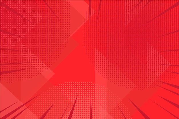 抽象的な赤いハーフトーンの背景 無料ベクター