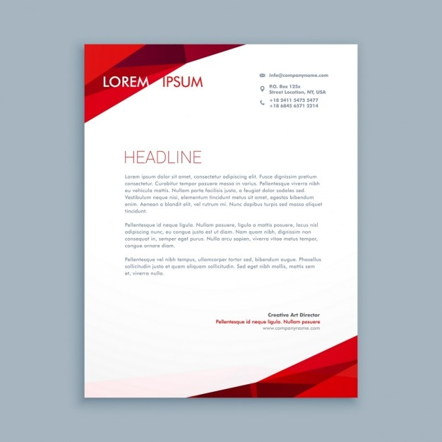 Abstract red letterhead vector free download abstract red letterhead free vector spiritdancerdesigns Image collections