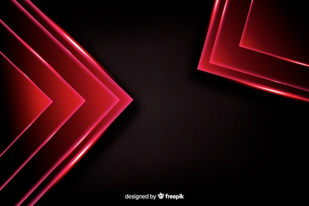 Abstract red lights shapes background Free Vector