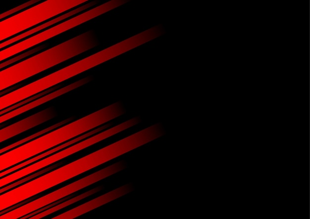 Abstract red line and black background for business card Premium Vector