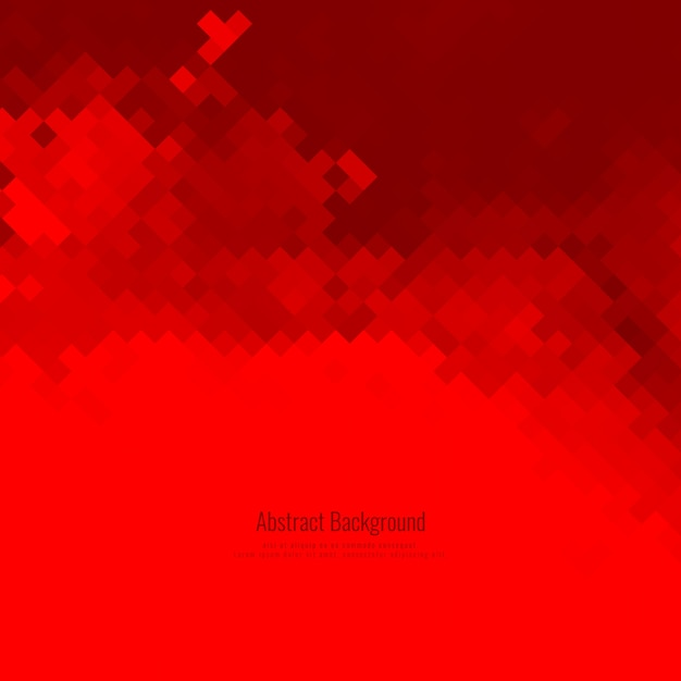 Abstract Red Mosaic Pattern Background Vector Free Download