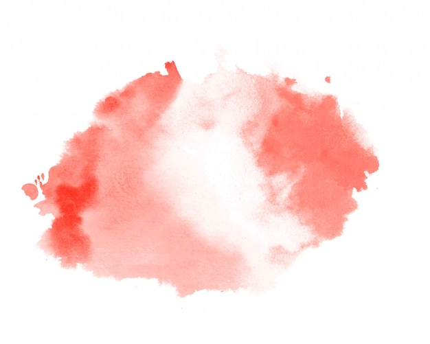 Abstract red pastel color watercolor texture stain background Free Vector
