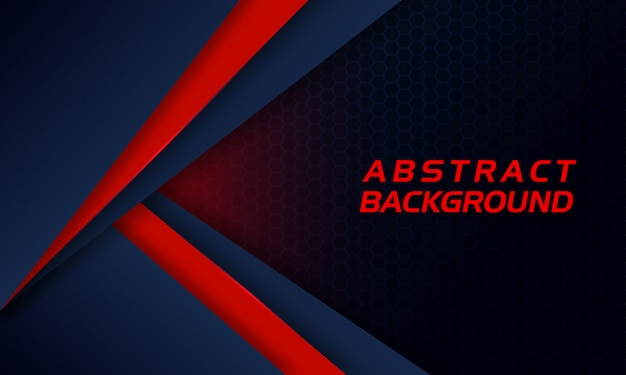 Abstract red shape on dark background Premium Vector