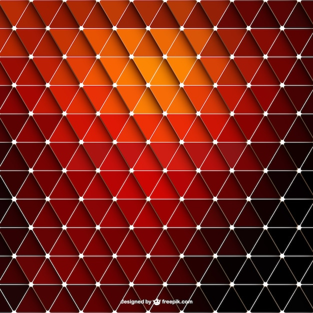 Abstract red triangle background | Free Vector