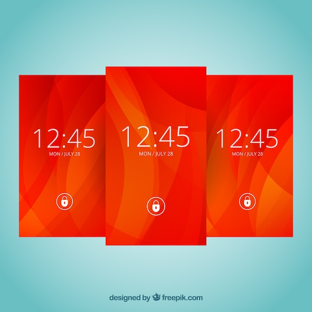 Abstract red wallpapers for mobile Free Vector