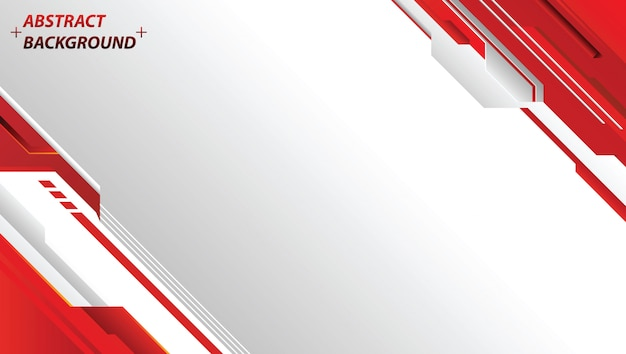 Premium Vector Abstract Red And White Background